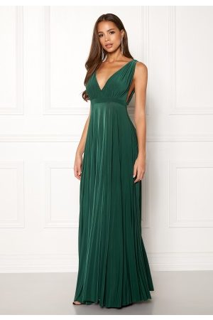 Goddiva Naiset Maksimekot - Pleated Oscar Maxi Dress Green S/M