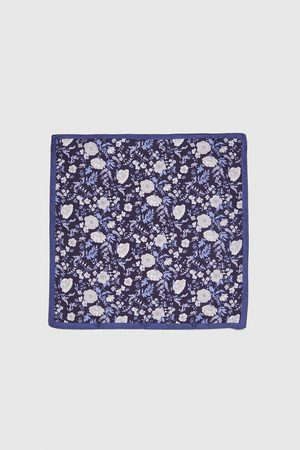 Zara FLORAL EMBELLISHED POCKET SQUARE