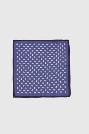 Zara EMBELLISHED POCKET SQUARE WITH TRIMS