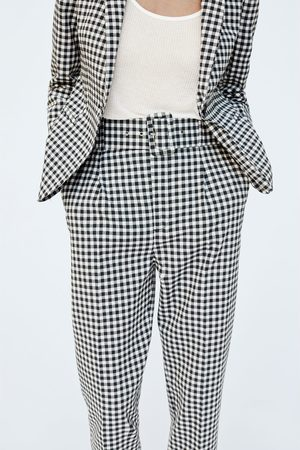Zara GINGHAM TROUSERS