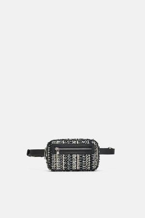 Zara TWEED BELT BAG