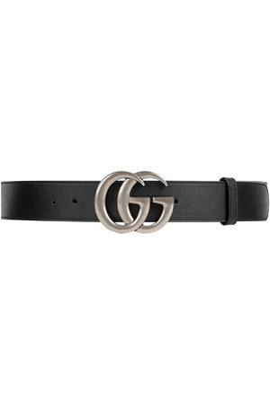 Gucci Miehet Vyöt - Leather belt with Double G buckle