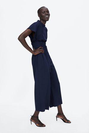 Zara PAPERBAG WAIST JUMPSUIT