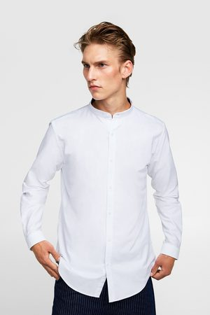 Zara Miehet Bisnes - OXFORD SHIRT WITH STAND-UP COLLAR