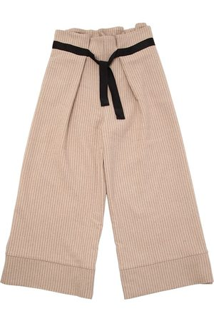 Unlabel Tytöt Housut - Wool Blend Pinstripe Pants W/ Belt