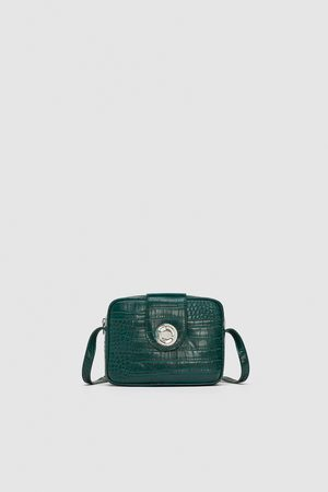 Zara EMBOSSED SQUARE CROSSBODY BAG