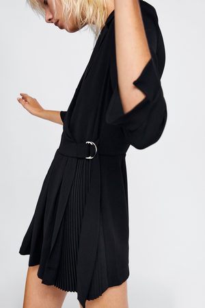Zara PLEATED BLAZER PLAYSUIT