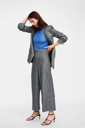 Zara Naiset Culottes-housut - HERRINGBONE CULOTTES