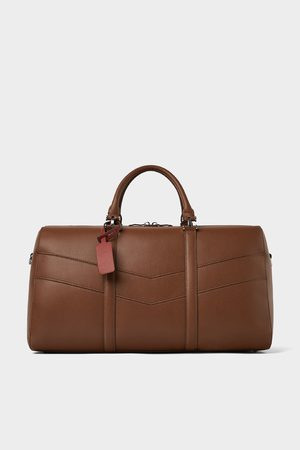 Zara BROWN BOWLING BAG