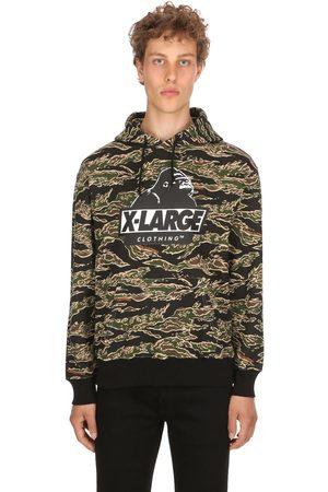 X-Large Tiger Camo Og Hooded Cotton Sweatshirt
