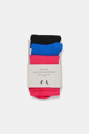 Zara 3-PACK OF COLOURED SOCKS
