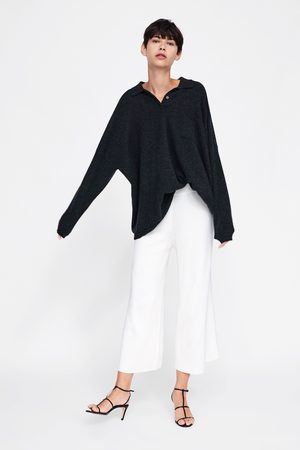 Zara RIBBED KNIT CULOTTES