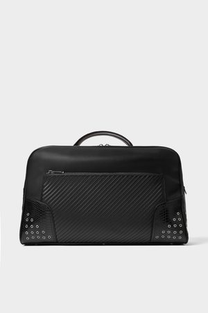 Zara BOWLING BAG WITH METAL APPLIQUÉS