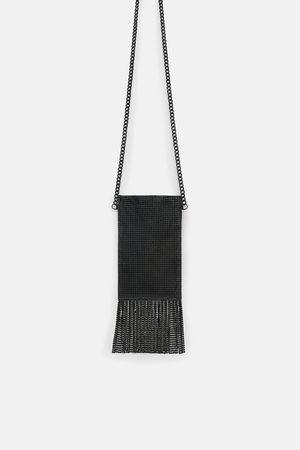 Zara MESH MINI CROSSBODY BAG WITH FRINGING
