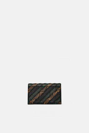 Zara STRIPED CROSSBODY BAG