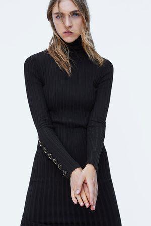 Zara KNIT DRESS WITH BUTTONS