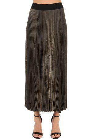 POIRET Naiset Vekkihameet - Pleated Lamè Skirt