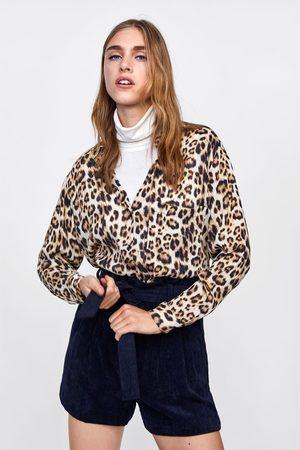Zara PAPERBAG WAIST CORDUROY BERMUDA SHORTS