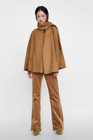 Zara CAPE COAT WITH SCARF