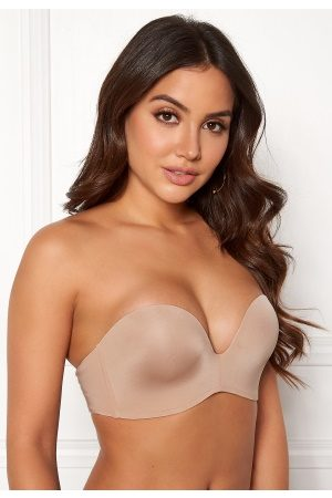 MAGIC Bodyfashion Naiset Push-up Liivit - Perfect Strapless Bra Skin 80A