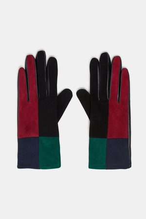 Zara SPECIAL EDITION PATCHWORK LEATHER GLOVES