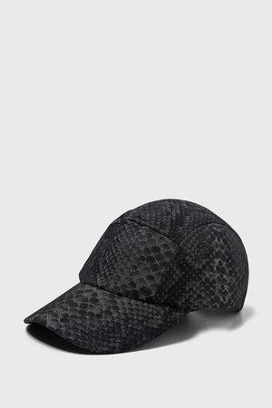 Zara SNAKESKIN PRINT CAP