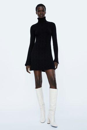 Zara CABLE-KNIT DRESS