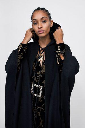 Zara LONG HOODED CAPE
