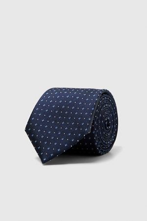 Zara WIDE TIE WITH MICRO FLOWERS