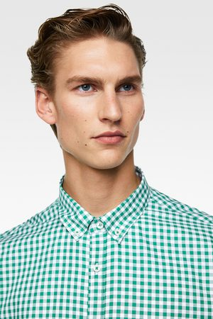 Zara GINGHAM CHECK SHIRT