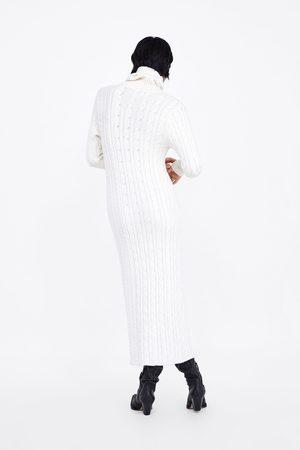 Zara LONG CABLE-KNIT DRESS
