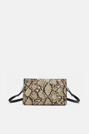 Zara CONTRASTING CROSSBODY BAG