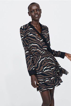Zara LEOPARD PRINT DRESS WITH BOW
