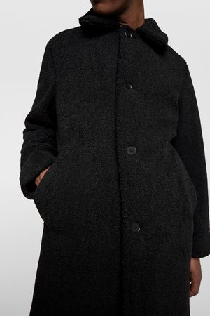 Zara THREE-QUARTER-LENGTH FAUX SHEARLING COAT