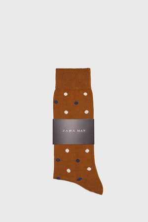 Zara POLKA DOT MERCERISED SOCKS