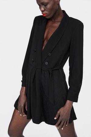 Zara PLEATED BLAZER PLAYSUIT DRESS