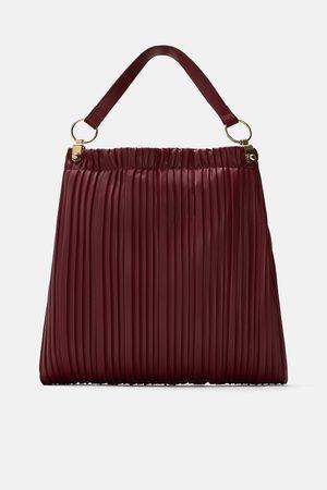 Zara PLEATED TOTE BAG