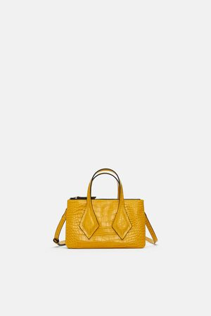 Zara EMBOSSED MINI TOTE BAG WITH CLASP