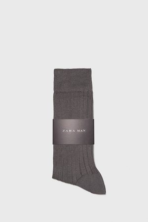 Zara PREMIUM QUALITY RIBBED MERCERISED COTTON SOCKS
