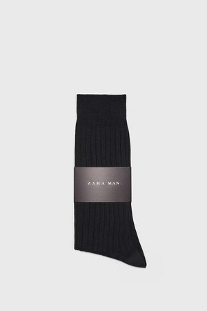Zara Premium ribbed mercerised cotton socks