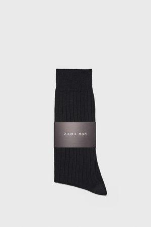 Zara Ribbed mercerised cotton socks