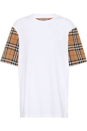Burberry Check-sleeved cotton T-shirt