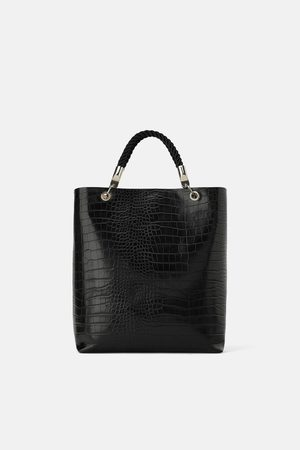 Zara TOTE BAG WITH BRAIDED HANDLE