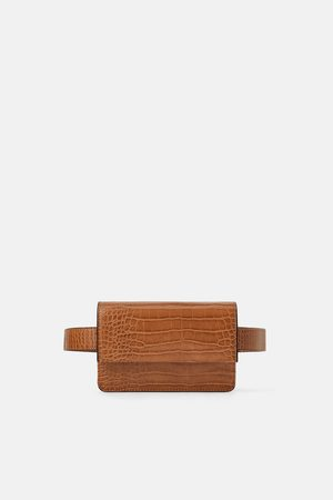 Zara ANIMAL PRINT CROSSBODY BELT BAG