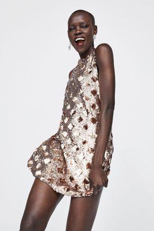 Zara DIAMOND SEQUIN DRESS