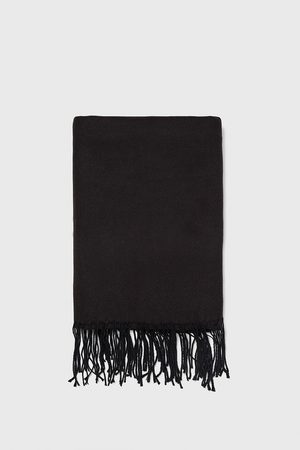 Zara PLAIN SCARF WITH FRINGE
