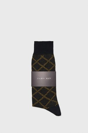 Zara CHAIN PRINT JACQUARD SOCKS