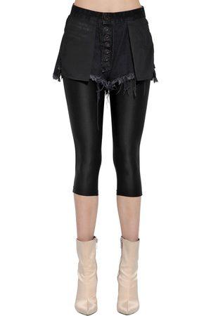UNRAVEL Inside Out Denim Shorts W/ Leggings