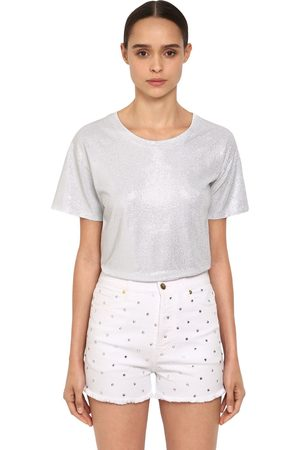 ALEXANDRE VAUTHIER Naiset T-paidat - Crystal Embellished Jersey T-shirt