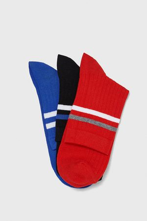 Zara PACK OF STRIPED RIBBED SOCKS